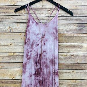 NWT- AEO Tie Dye Dress w/ Criss Cross Back
